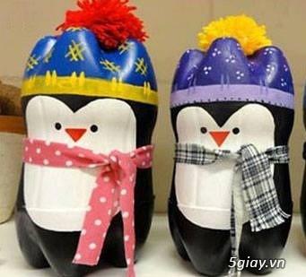 Cách làm chú chim cánh cụt siêu đáng yêu từ vỏ chai nhựa đón Noel - 210603