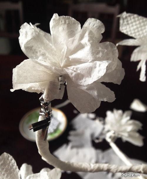 Bình hoa tuyệt đẹp bằng khăn giấy - 210934