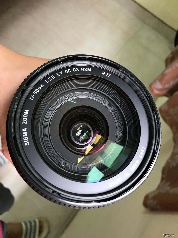 Len Sigma 17-50mm F2.8 EX DC OS cho Canon