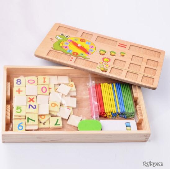 Bộ học toán bằng gỗ cho bé