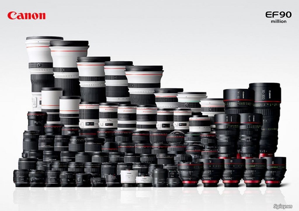 Canon cán mốc sản xuất 90 triệu máy ảnh EOS và 130 triệu ống kính rời