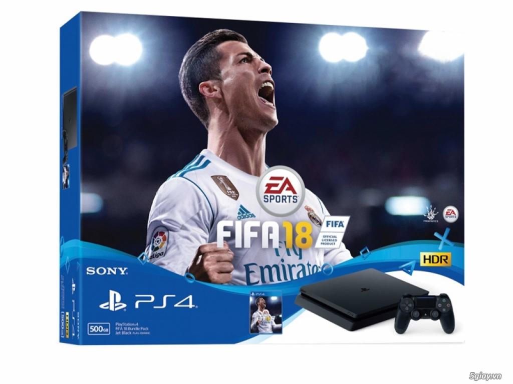 Sony ra mắt FIFA18 BUNDLE của máy chơi game PS4 (500GB) và PS4 Pro