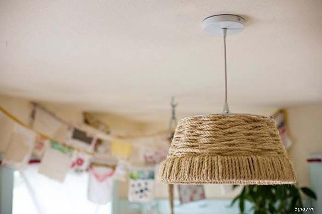 Cách làm đèn treo mộc mạc bằng dây thừng - 211745