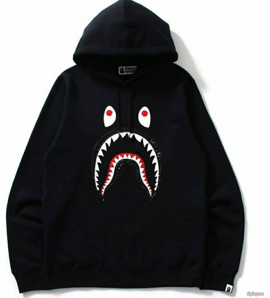 Áo Hoodie BAPE Cá Mập (Đen)