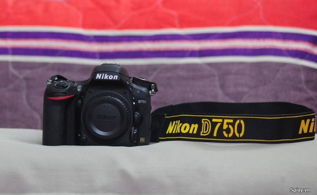 Nikon D750 fullbox còn bảo hành Khánh Long đến 31/07/2018