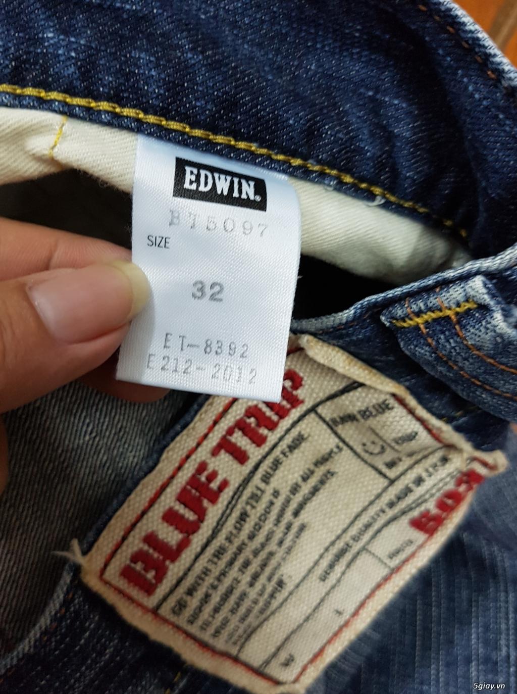 Quần sort jean Authentic hiệu EDWIN phong cách bụi