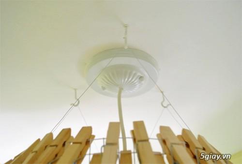 Chụp đèn độc đáo từ kẹp gỗ - 212503