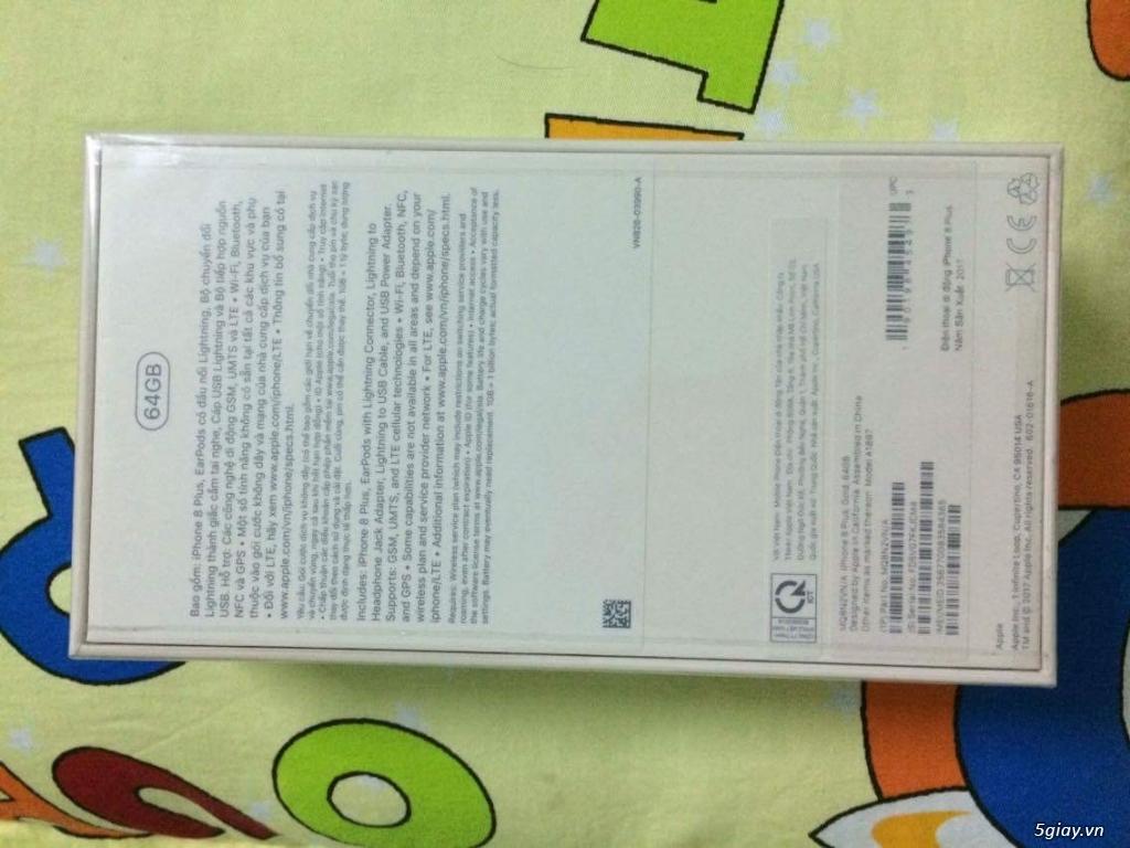 Bán iPhone 8 Plus gold 64G nguyên seal TGDĐ