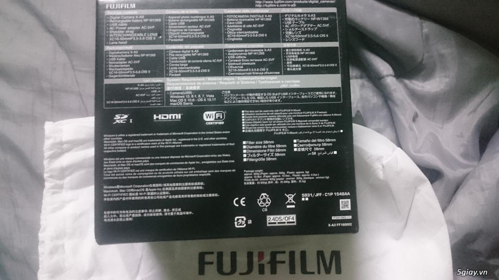 Máy ảnh fujifilm xa3 fullbox 100% BH 1 năm online