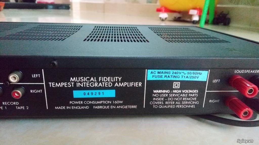 Bán ampli musical fidelity tempest