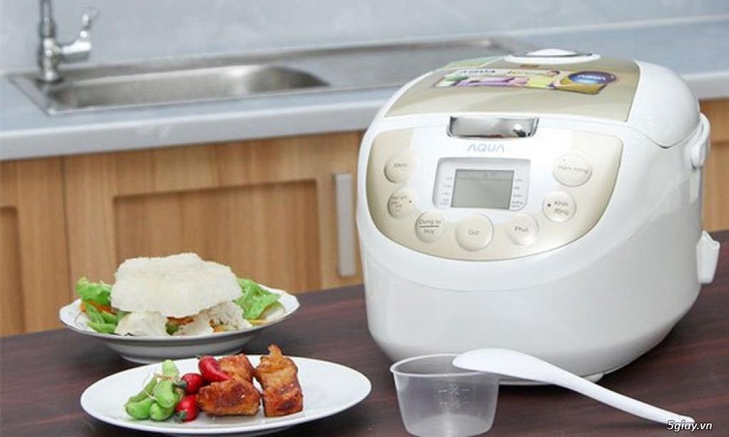Nồi cơm điện tử Aqua, lò vi sóng Sanyo, bếp ga Kangaroo BH 1năm giá rẻ