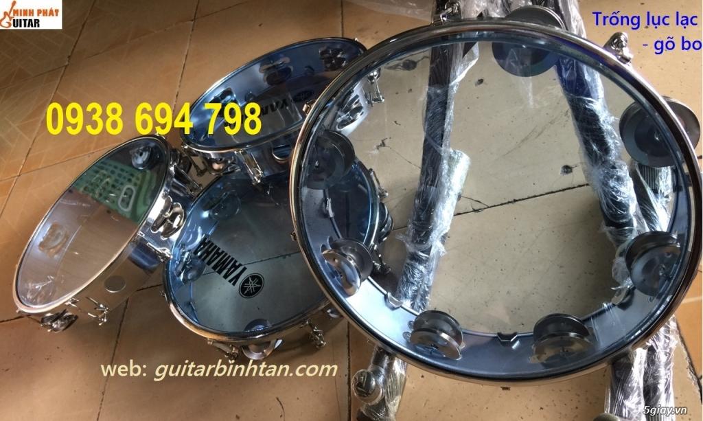 Trống gõ bo, trống lục lạc cầm tay, trống tambourine, trống lắc tay chơi nhạc chế - 8