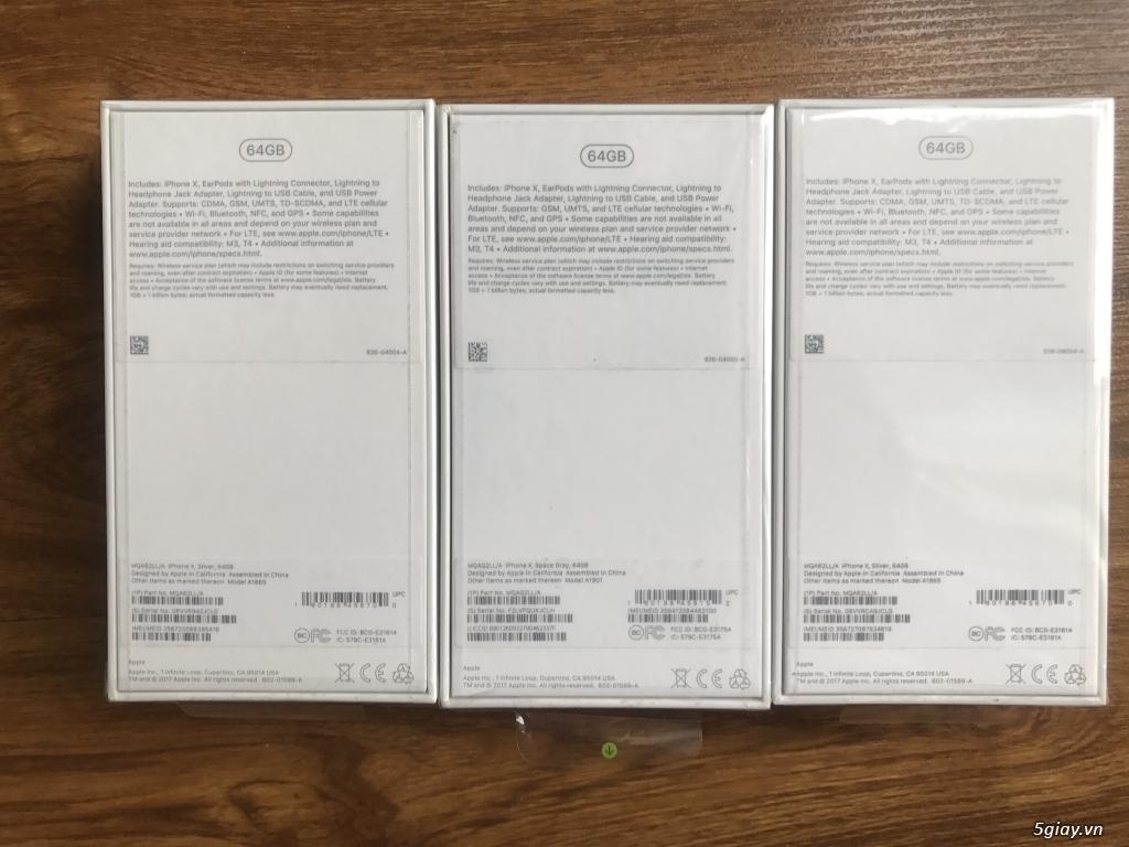 Cần bán iphone X-64gb quốc tế Mỹ(LL/A)nguyên seal,chưa active giá tốt - 1