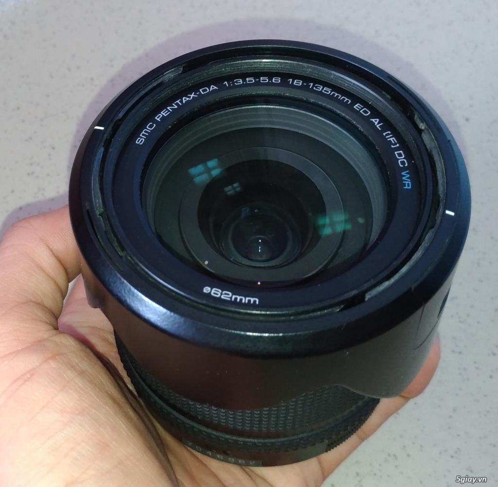 Cần bán Body Pentax K50 + DA 18-135mm  + DA 50mm F1.8 - 4