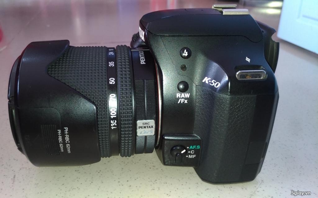 Cần bán Body Pentax K50 + DA 18-135mm  + DA 50mm F1.8 - 3