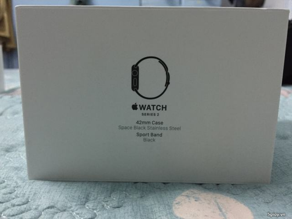 Apple watch S2 fullbox likenew thép đen 42mm dây black sport band. - 5
