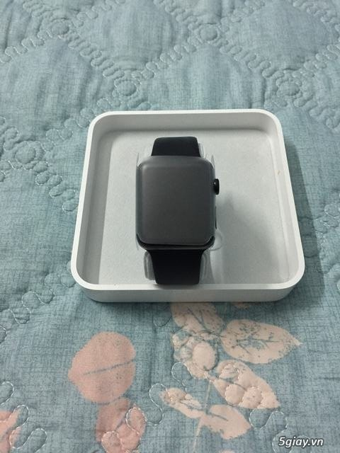 Apple watch S2 fullbox likenew thép đen 42mm dây black sport band. - 3