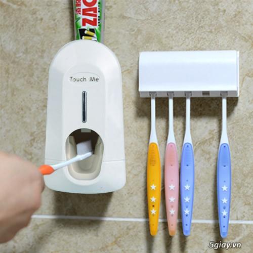 Dụng cụ lấy kem đánh răng tự động (Trắng)