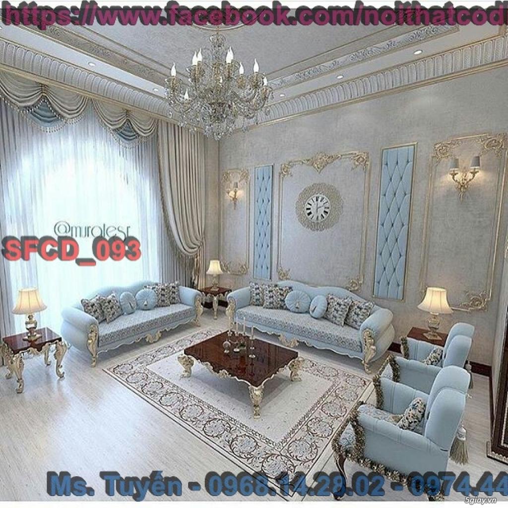 Sofa tân cổ điển giá rẻ , Bàn ghế cổ điển châu âu mới nhất 2018 - 16