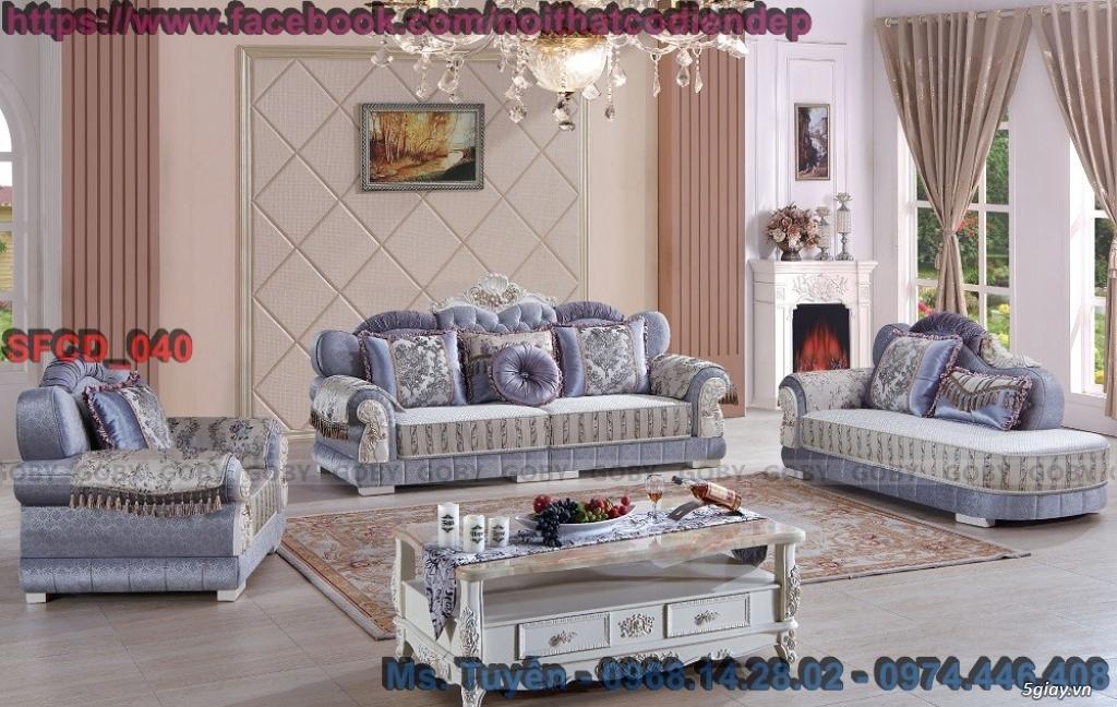 Sofa tân cổ điển giá rẻ , Bàn ghế cổ điển châu âu mới nhất 2018 - 8