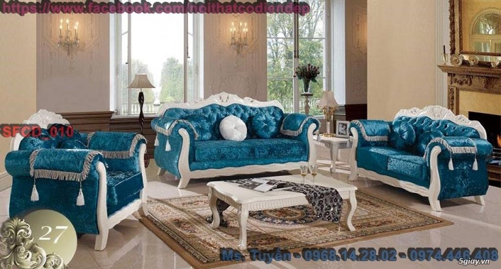 Sofa tân cổ điển giá rẻ , Bàn ghế cổ điển châu âu mới nhất 2018 - 2