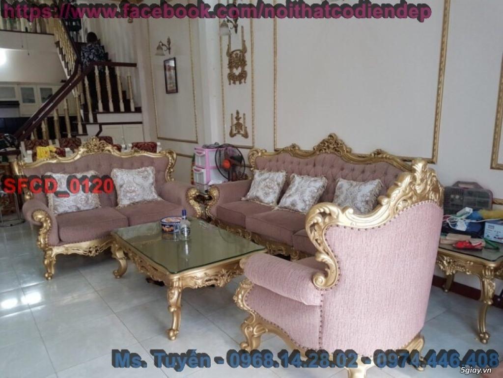 Sofa tân cổ điển giá rẻ , Bàn ghế cổ điển châu âu mới nhất 2018 - 18