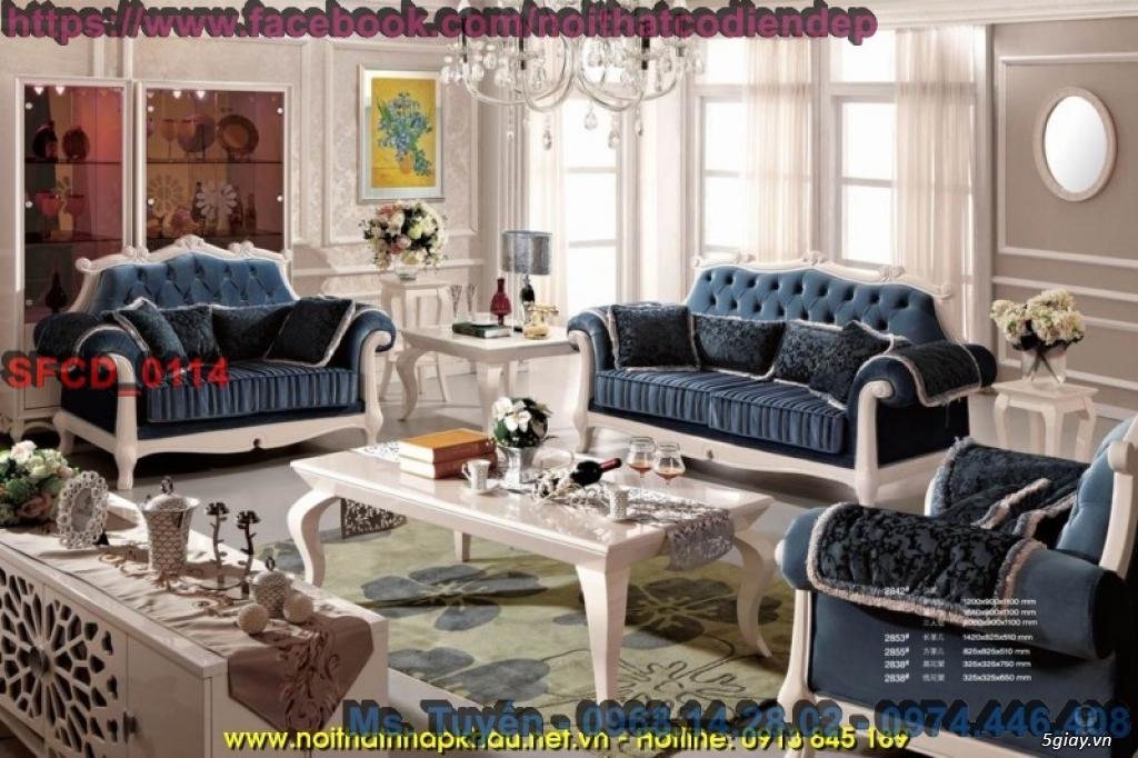 Sofa tân cổ điển giá rẻ , Bàn ghế cổ điển châu âu mới nhất 2018