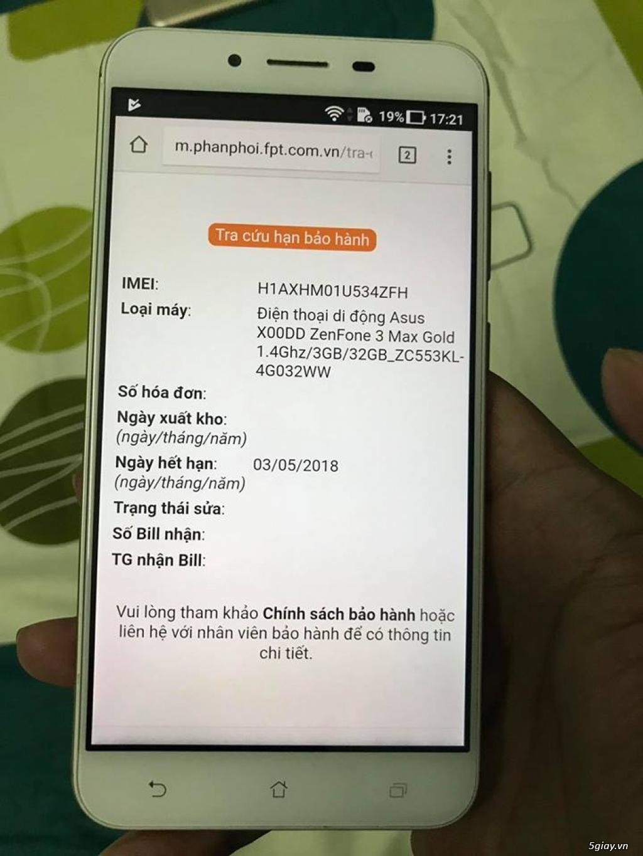 Zenfone max 3 Gold 5.5 BH hãng 5/2018 - 4