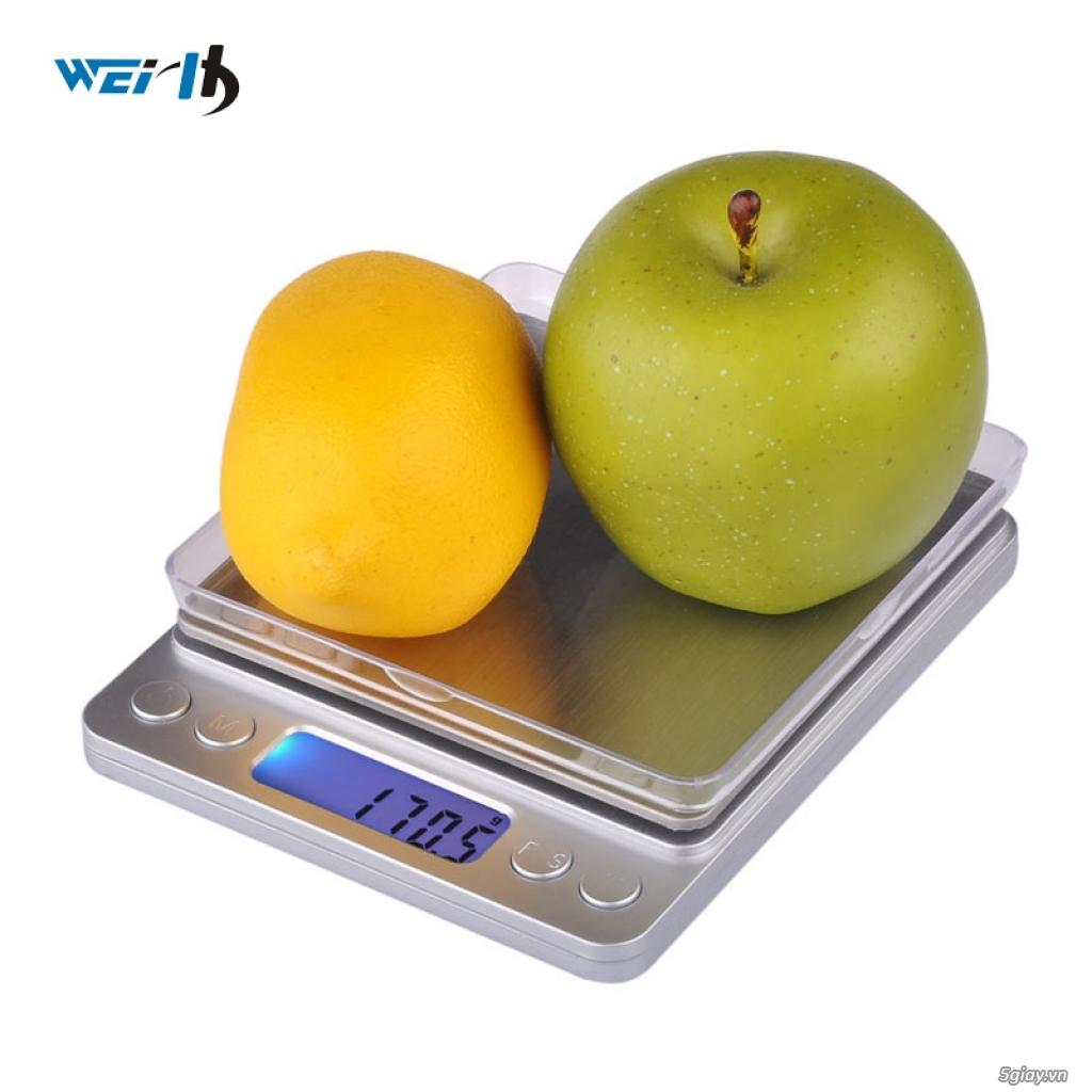 Cân điện tử tiểu ly,nhà bếp,thí nghiệm tổng hợp từ 500g/0,01g->10kg/1g - 6