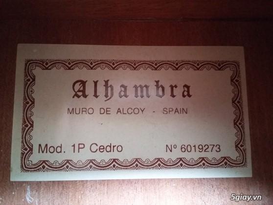 Alhambra guitar Mod 4C, Alhambra 1P và Alhambra Iberia A Tây Ban Nha - 4