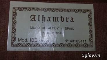 Alhambra guitar Mod 4C, Alhambra 1P và Alhambra Iberia A Tây Ban Nha - 7