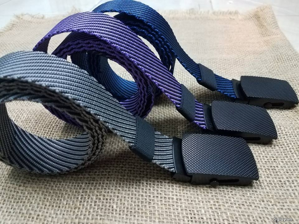 Chuyên bán dây nịt lính Mỹ US, dây nịt vải bố, thắt lưng vải mặt nhựa - 4