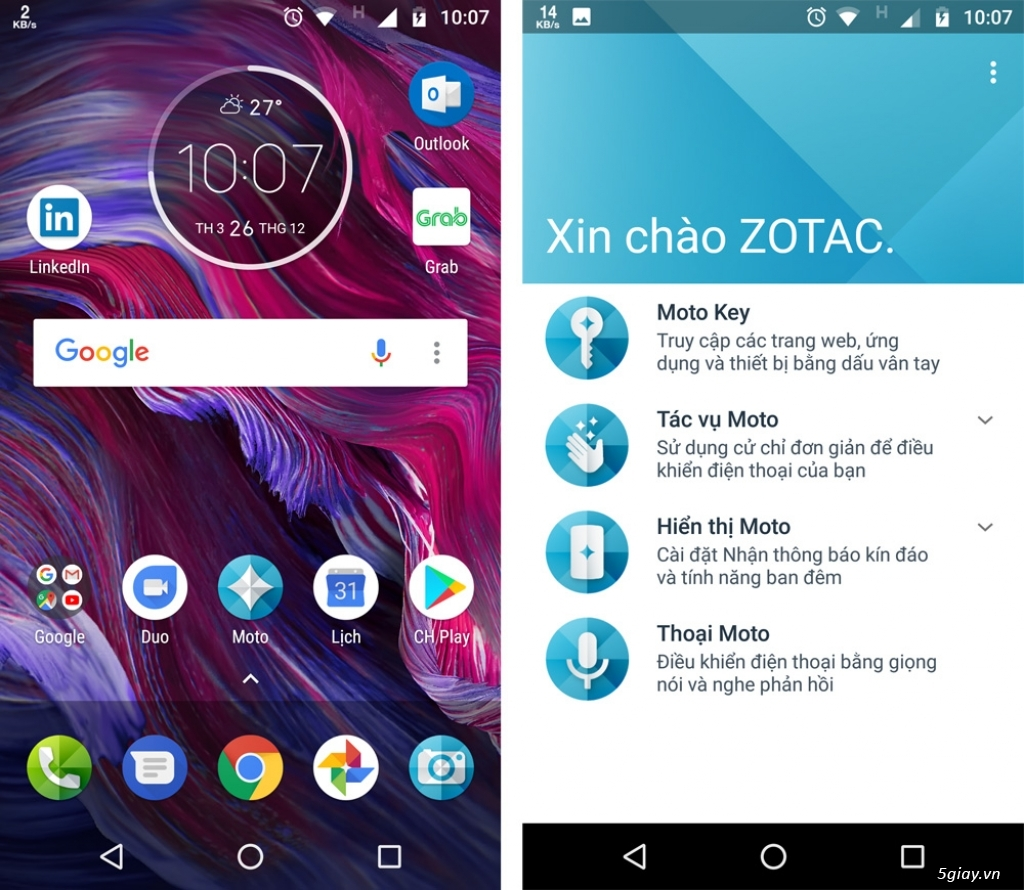 Thử nghiệm tương tác thông minh trên Motorola Moto X4 - 217733