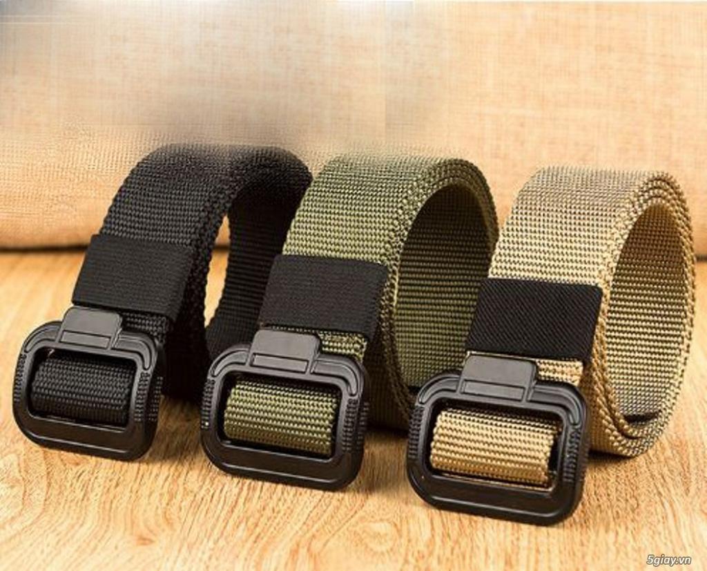 Chuyên bán dây nịt lính Mỹ US, dây nịt vải bố, thắt lưng vải mặt nhựa - 32