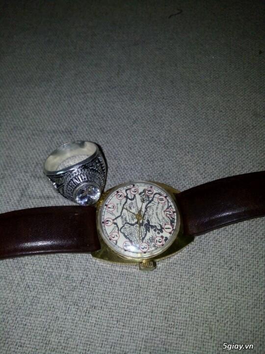 Đồng hồ Pilot mặt bảng đồ cổ (bọc vàng 10k) - 2