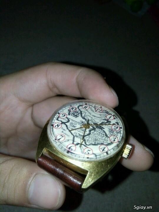 Đồng hồ Pilot mặt bảng đồ cổ (bọc vàng 10k)