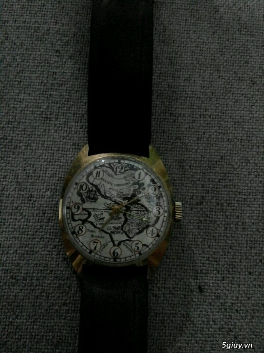 Đồng hồ Pilot mặt bảng đồ cổ (bọc vàng 10k) - 1