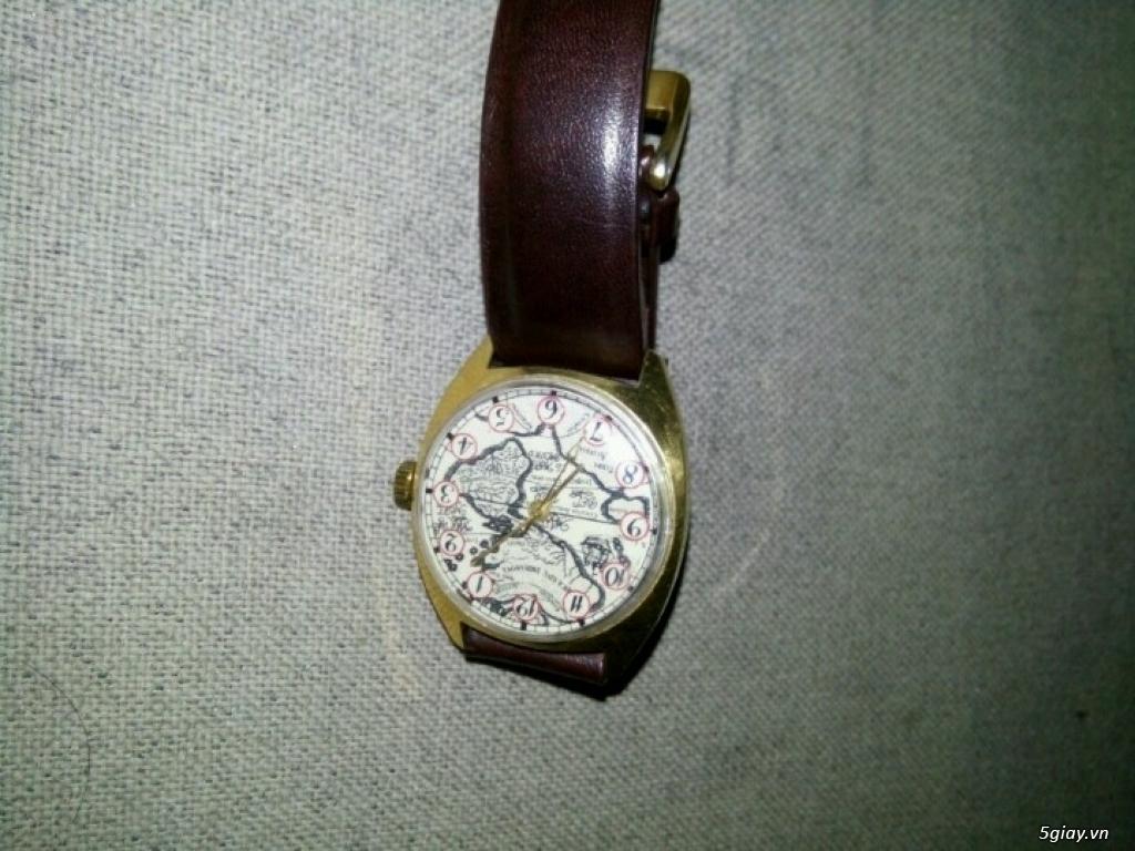 Đồng hồ Pilot mặt bảng đồ cổ (bọc vàng 10k) - 4