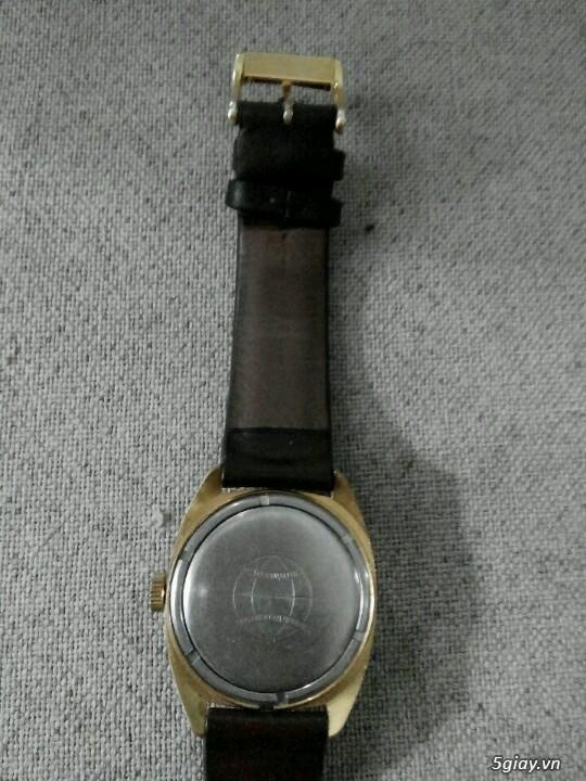 Đồng hồ Pilot mặt bảng đồ cổ (bọc vàng 10k) - 3