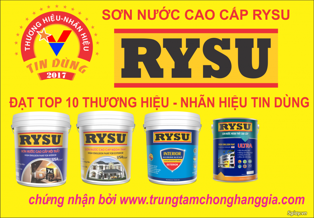 sơn RYSU có tốt không, chiết khấu hấp dẫn cuối năm