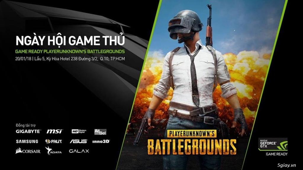 Nvidia tổ chức ngày hội game thủ PUBG với giá giảm 70 - 90%
