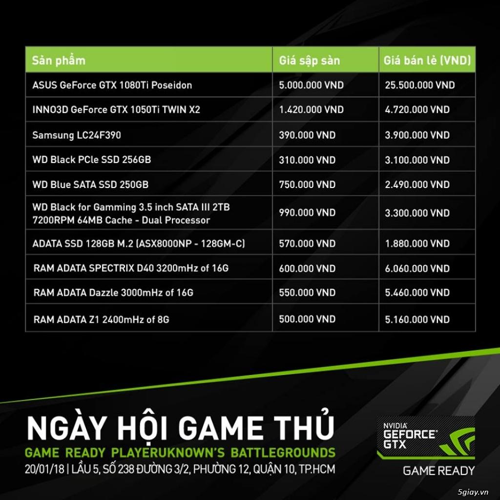 Nvidia tổ chức ngày hội game thủ PUBG với giá giảm 70 - 90% - 218395