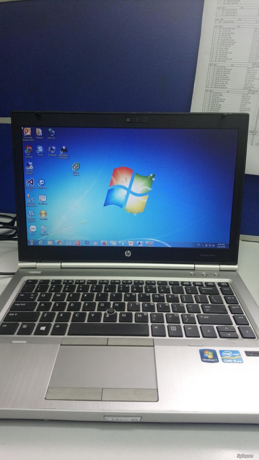 Bán HP Elitebook 8470p i5 3360M/Ram 4G/HDD 500G/HD 4000/vỏ nhôm - TP
