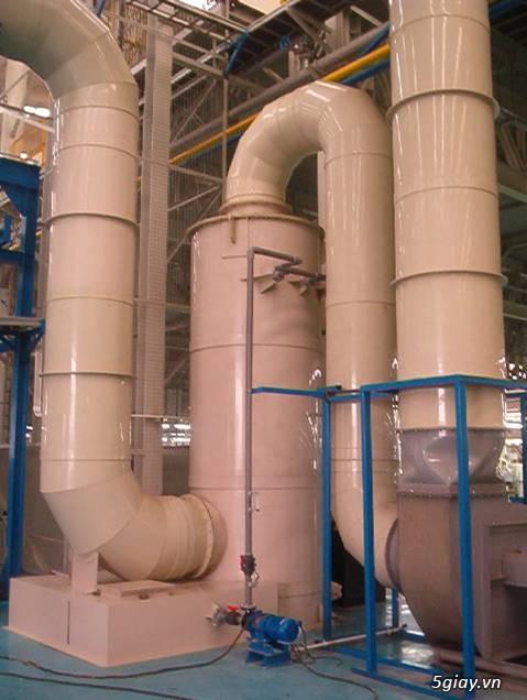 Tháp hấp thụ khí thải bằng nhựa PP PE FRPcompositte