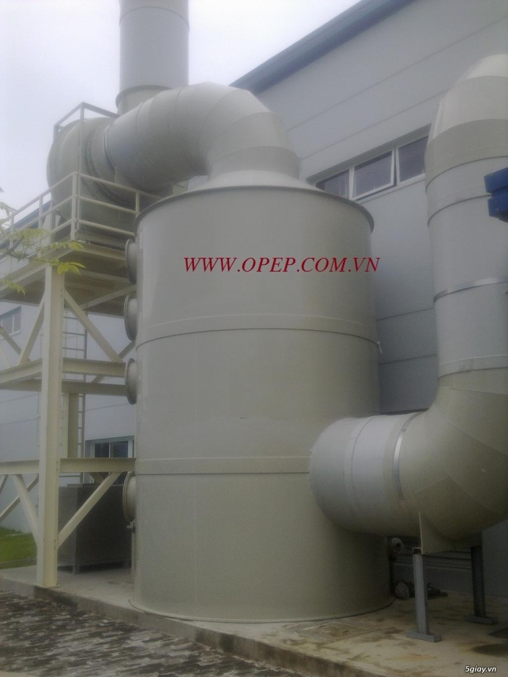 Tháp hấp thụ khí thải bằng nhựa PP PE FRPcompositte - 4
