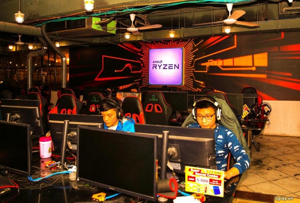 AMD và Cyzone trang bị CPU Ryzen cho các phòng game i-Cafe
