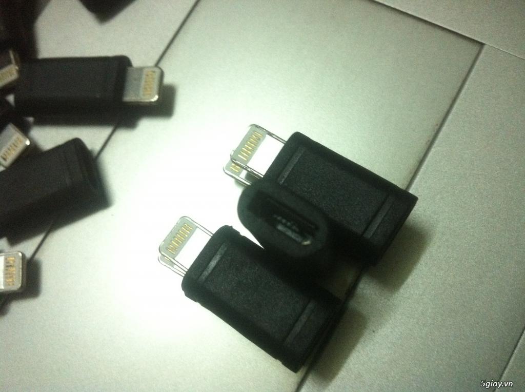 [từ thiện làng Tre] 30 jack chuyển từ microusb(android) sang lightning(IOs)E 23h59 27/01/18