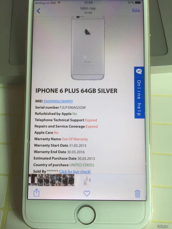 Cần bán iPhone 6plus lock 64g màu gold - 2