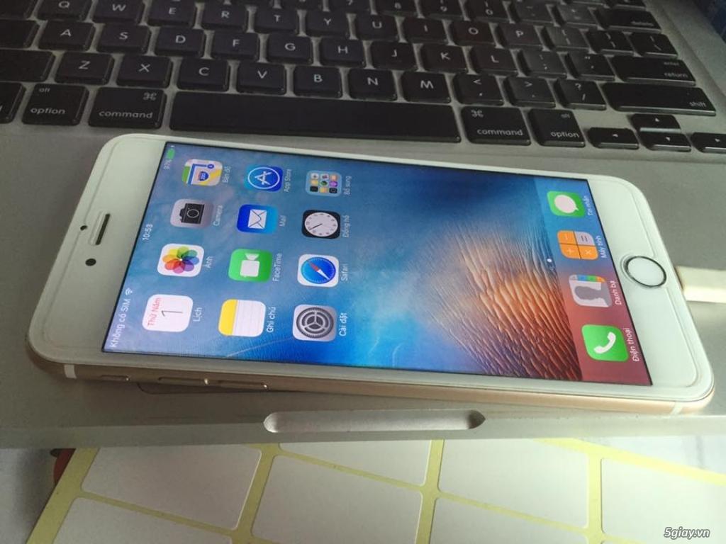 Cần bán iPhone 6plus lock 64g màu gold - 1