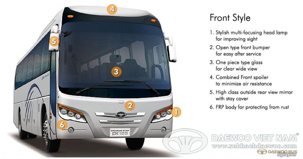 Hỗ trợ mua trả góp 80% xe khách Daewoo FX120- 47 chỗ. TT 850TR- Giao x - 1